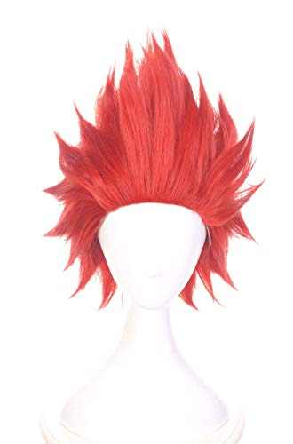 Topcosplay Cosplay Peluca Sintticas con Diseo de Anime Rojo pelucas con Gorro de pelucas para Halloween, Carnavales, Fiestas