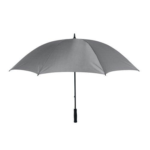 eBuyGB Ombrello Antivento, Poliestere, Grigio, 135 cm