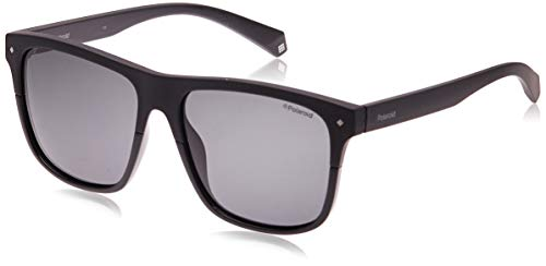 Polaroid Sunglasses Men's PLD6041/S Rectangular Sunglasses, Black, 56 mm