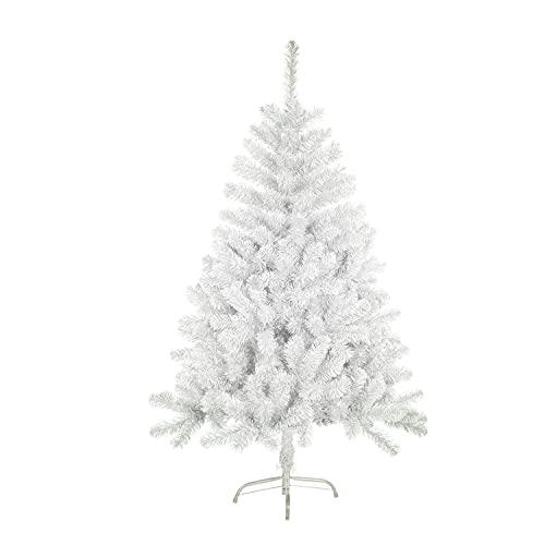 Solagua Árbol de Navidad Artificial Abeto de Hoja Espumillón 120-210cm Arboles C/Soporte (Blanco, 150cm 293Tips)