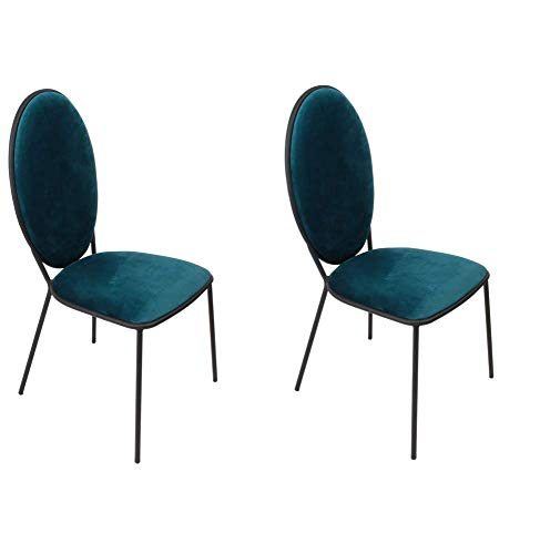 Cmp-Paris Louis - Juego de 2 sillas (51 cm), Color Azul