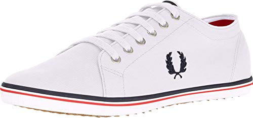 Fred Perry Unisex-Adult Kingston Twill Sneaker, White, 5 D UK (6 US)