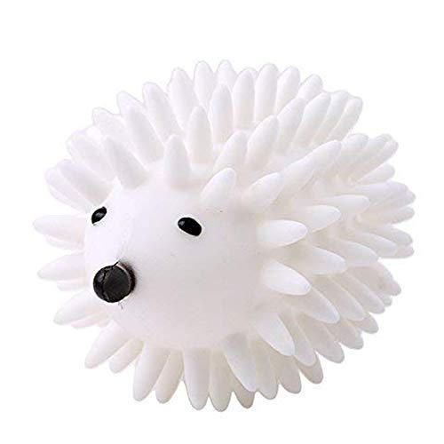 Bolas de secado de erizo para lavadora, suavizante de tela para ropa de lavandería, secador de pelotas, para mantener la colada, suave y fresca, color blanco