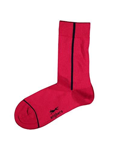engbers Herren Socken, 28553, Rot in Größe 42