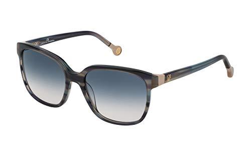 Carolina Herrera SHE687540WTC Gafas de Sol, Azul, 54 para Mujer