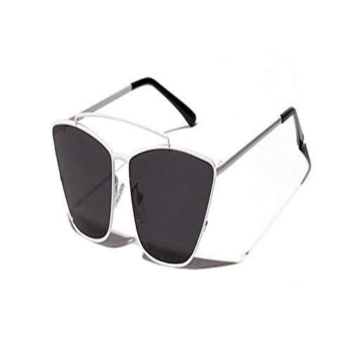 Gafas de sol de ojo de gato con lente verde pequeño marco de metal negro para mujeres hombres niñas vintage gafas de sol metal moda