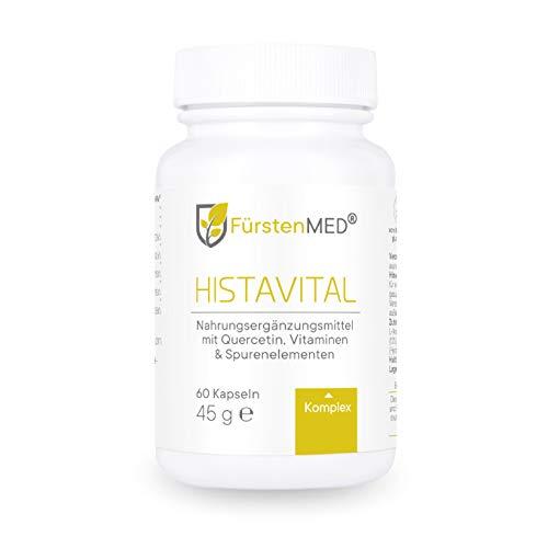 FürstenMED® Histavital Quercetin + Vitamin C Komplex mit gepuffertem Vitamin C, vegan, hergestellt in Deutschland, Laborgeprüft & ohne Zusatzstoffe