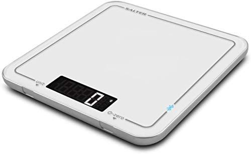 Suivez les recettes, peser des ingrédients et mesurer les liquides, l'accessoire de cuisine élégant, l'affichage à LED numérique, les unités métriques ou impériales balance cuisine WANGSHAOFENG