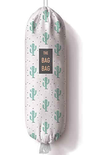 Cactus Plastic Bag Holder and Dispenser Grocery Shopping Bags Carrier Garbage Bag Organizer for KitchenCactus Home Kitchen Décor Gifts for the Holiday/Housewarming/Family/Friends23x9 inch