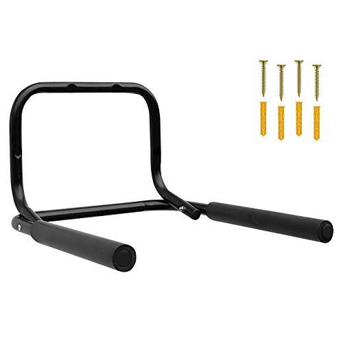 WELLGRO® Wand Fahrradhalter - Stahl, schwarz, klappbar, Tragkraft bis 50 kg, Wandmontage, weiche Schaumstoffpolsterung