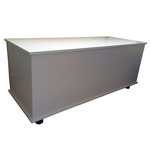 Redstone Holztruhe Sitztruhe weiß, 100x40x40cm - 3