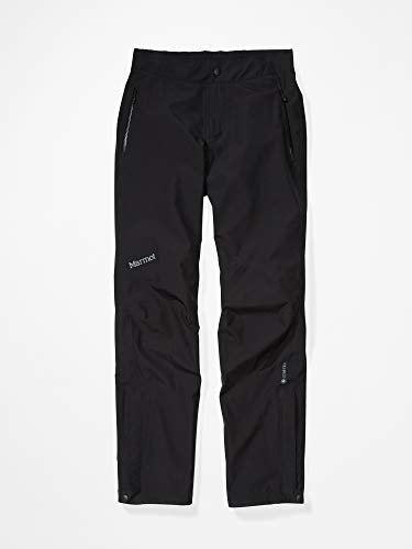 Marmot Wms Minimalist Pant Pantalones Impermeables, Pantalones De Lluvia, Prueba De Viento, Transpirables, Mujer, Black, M