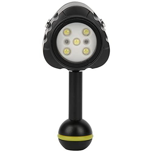 Goshyda Luce di Riempimento, Luce di Riempimento Sommergibile a LED per Immersione Subacquea Impermeabile 40M, Mini Luce Video per Telecamera Subacquea 7500K per Vari Ambienti