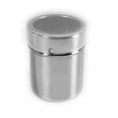 1 Pack Shaker Sifter Dispenser Duster Container Stainless Steel For Cinnamon Flour Powdered Sugar baking soda Cocoa Cornstarch ect. (Model-2)