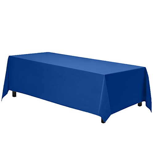 """Gee Di Moda Rectangle Tablecloth - 90 x 132"""" Inch - Royal Blue Rectangular Table Cloth for 6 Foot Table in Washable Polyester - Great for Buffet Table, Parties, Holiday Dinner, Wedding & More"""