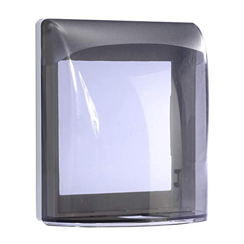 FSJKZX Caja De Enchufe Impermeable Caja De Enchufe Impermeable Transparente para Oficina En Casa Piscina Garaje Caja De Salpicaduras Tipo 86 para Baño Y Cocina (Color : Gray, Size : 100 * 110mm)