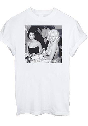 Gnn Jayne Mansfield Sophia Loren Looking Her Boobs Men Tshirt 331