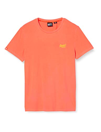 Superdry Herren OL NEON LITE Tee T-Shirt, Orange (Volcanic Orange B5T), Small