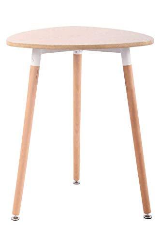 CLP Küchentisch ABENRA I Esstisch Mit MDF Tischplatte I Bistrotisch Mit Buchenholzgestell, Farbe:Natura, Größe:60 cm