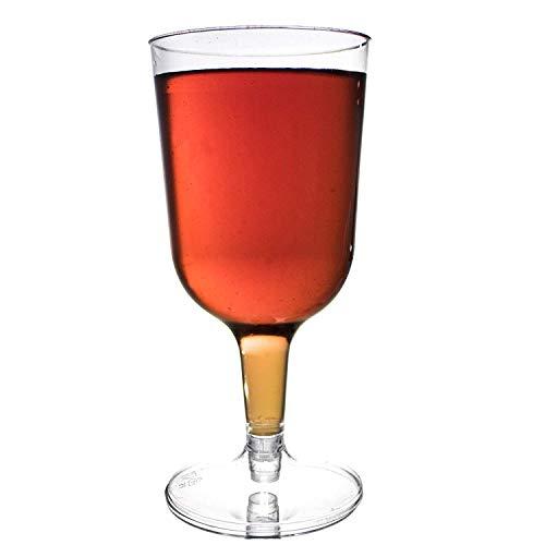 48 Piezas Copas de Vino de Plástico Desechables, Transparente 180ml - Elegante, Resistente y Reutilizable -...