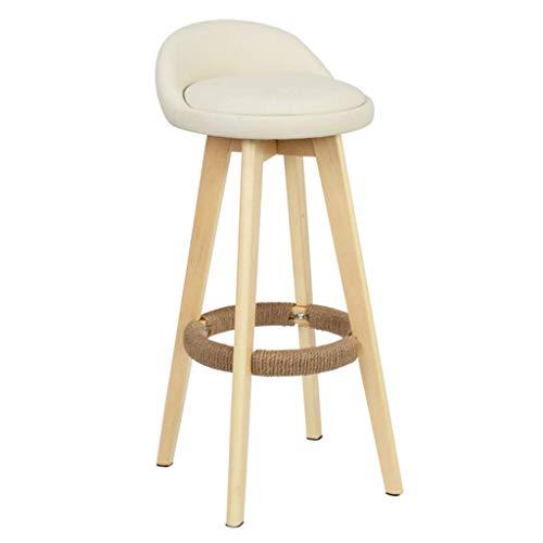 MTCGH Stühle, Hochstühle, Barstühle, Hocker Swivel Bar Hocker Stühle Höhe Fußstütze Essenszähler Frühstück Home Cafe Küchentextil Polster