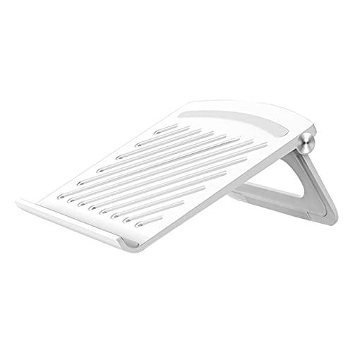 Soporte para ordenador portátil para escritorio, soporte ajustable de malla de escritorio con alfombrilla antideslizante de silicona para todos los portátiles de hasta 17 pulgadas (blanco)