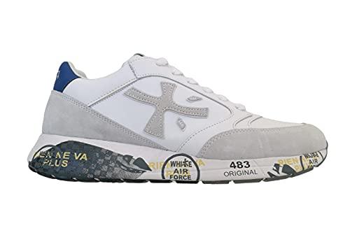 PREMIATA Zac-Zac_4555 - Zapatillas de piel para hombre, estilo vintage, color blanco, Color blanco., 46 EU