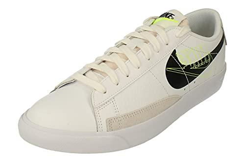 Nike Blazer Low Uomo Trainers DA4652 Sneakers Scarpe (UK 7 US 8 EU 41, White Black Volt White 100)