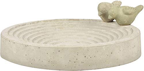 Fallen Fruits Heavyweight Concrete Esschert design Bird Bath Food Basin Bowl