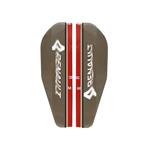 YinAn Accesorios de decoración 2 unids Coche Lateral retrovisor Espejo Rain Cebolla Auto Lluvia Escudo R-E-N-A-U-L-T Pegatinas Auto Side Espejo Sol Shield Shade (Color : Brown)