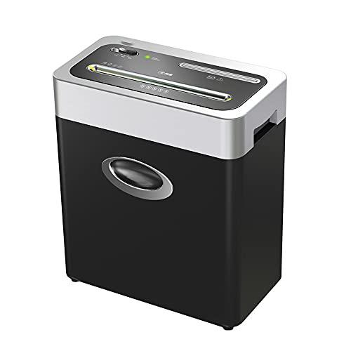Siuber Corte la trituradora de Papel de casa, Alto Nivel de Seguridad Papeles Ultra silenciosos/Tarjetas de crédito Interritillas de la Oficina en casa con la contenedora de desechos de tirout