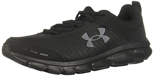 Under Armour mens Charged Assert 8 Running Shoe, Black (002 Black, US