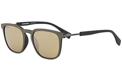occhiali da sole converse Converse Uomini All Star SCO051 occhiali da sole w/Oro Specchio Lens 52 millimetri 96TG SCO051Q SCO 051Q SCO 051 Matte Grey Lens-52 Ponte-21 Temple-140