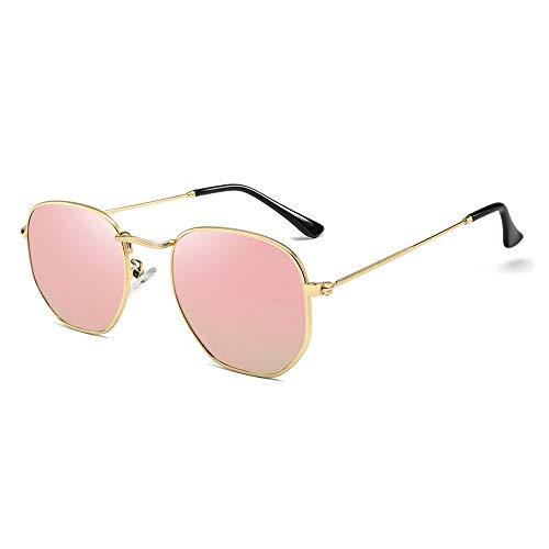 XXY Gläser Brille Polarisierte Sonnenbrille Frauen HD True Color Film Sonnenbrille Bunte Sonnenbrille unisex (Color : Rosa, Size : Kostenlos)