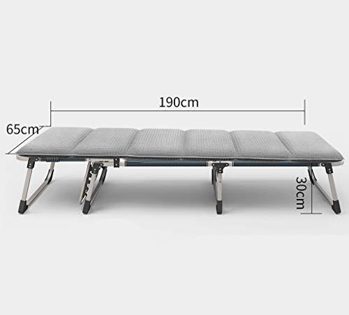 YWZDY Bains de Soleil Lit Pliant, Chaise de Camping à Dossier réglable, Chaise Longue de Jardin, (Couleur : Gray, Taille : 65cm)