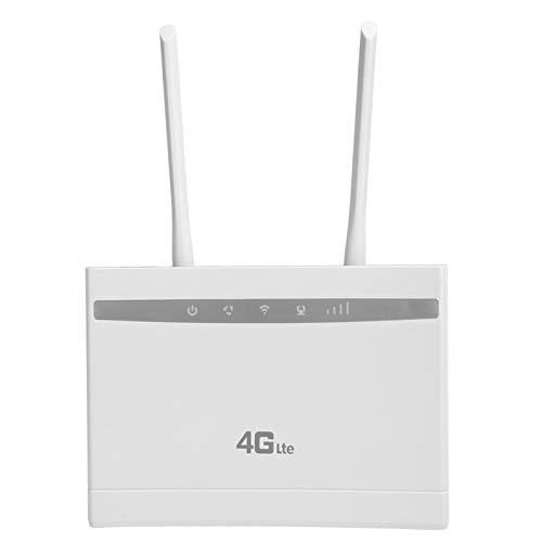 Enrutador 4G, enrutador de Internet inalámbrico de Antena Dual WiFi inalámbrico de 150 Mbps para conexión de Red de Oficina en casa, admite 32 usuarios al Mismo Tiempo