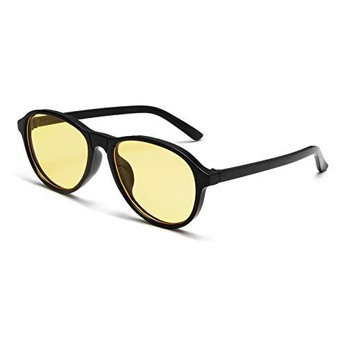 Gafas de Sol Sunglasses Moda Oval Color Caramelo Gafas De Sol para Mujer Mujeres Hombres Retro Diseñador De La Marca Marco Transparente Gafas De Sol Mujer Gafas De Plástico Sombras