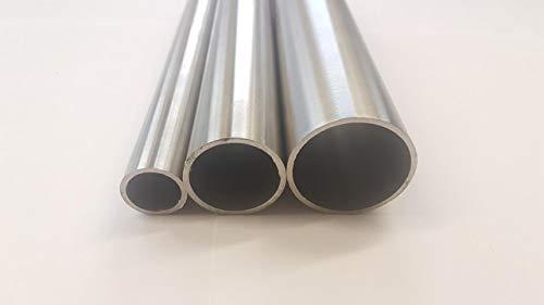 Edelstahlrohr - Geländerrohr - Edelstahlrundrohr - Rundrohr 21,3x2-60,3x2,5 mm 1.4301 V2A geschliffen (60,3x2,5mm - 1000 mm)
