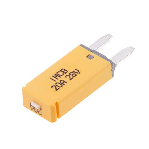 Lounayy 12V Auto Rückstellbare Mini Klinge Sicherung Basic Mode Manuelle Leistungsschalter 15A Sale Coole Sachen (Color : Als Bild 20A, Size : Size)
