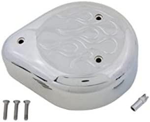 V-Twin 34-0527 Chrome Flame Translated Air Drop Cleaner Max 82% OFF Tear