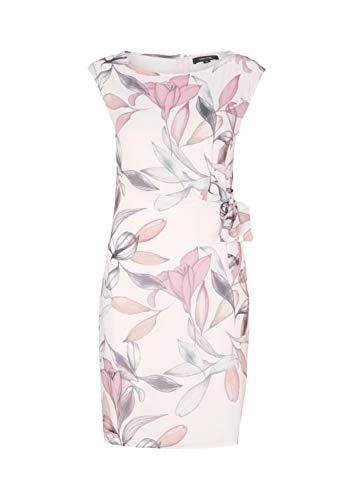 comma Damen 8T.903.82.8307 Kleid, Mehrfarbig (40u2 AOP Spring Flower 40u2), (Herstellergröße: 34)