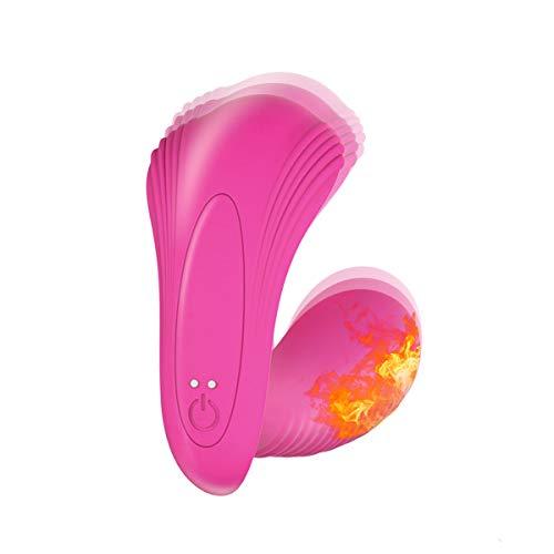 Vǐbrador para mujer con control remoto. Mạsạjeạdor Portátil con función de Calefacción y 10 modos. Consolador con mando a distancia. Juguete sexual para pareja, punto G y Clítoris. Hecho de silicona.