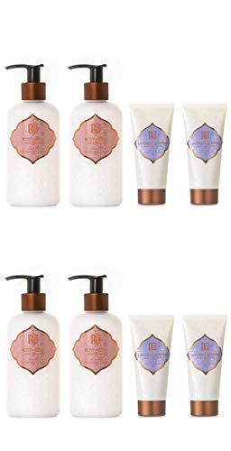 AKALIKO Rosy Rose Body Lotion and Lavender Cherish Hand Cream - Set C.