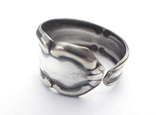 Miniblings Ring aus Besteck Upcycling Gabel Löffel Handarbeit Antik Unikat 111 - Handmade Modeschmuck I Fingerring mit Motiv I one Size