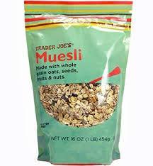 Trader Joe's Muesli GLUTEN FREE 16 oz (Pack of 4)