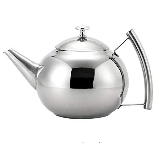 Electric oven Hervidor de té de Acero Inoxidable para la Tapa de la Estufa, Tetera de Flores de café - con Filtro, Adecuado para la Cocina de inducción, la Tetera de la Oficina del Restaurante
