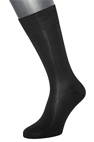 ALBERT KREUZ Die Feine - Herren-Business-Socken aus Baumwolle 1 Paar Schwarz Gr. 39-41