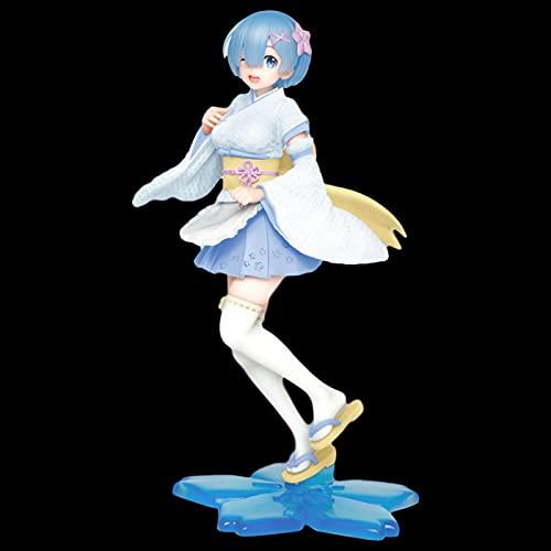 Original Taito Cute Anime Figure Re Zero Start Life In Another World Rem Kimono Maid Ver.Figura PVC Molo Muñeca Juguetes 23CM Pop Anime,nendoroid Anime,funkos Anime,hentaii Figure