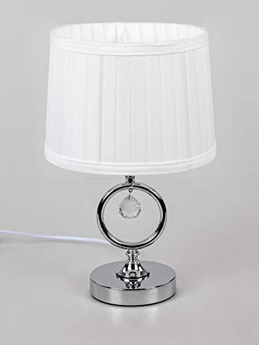 formano Tischlampe, Leuchte Kreise H. 36,5cm Silber mit weißem Schirm