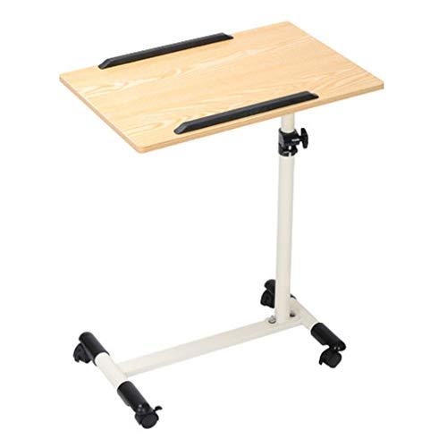 Unbekannt Mobiler Nachttisch mit feststellbaren Lenkrollen, höhenverstellbarem Klapptisch, Laptop-Esswagenständer für ältere Menschen und Patienten